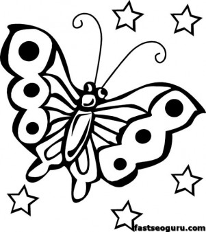Butterfly coloring pages for childrens printable free