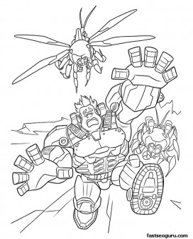 Printable Wreck-It Ralph fighting in Heros Duty coloring pages