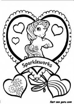 Printable ittle Pony Friendship Is Magic Sparkle coloring pages
