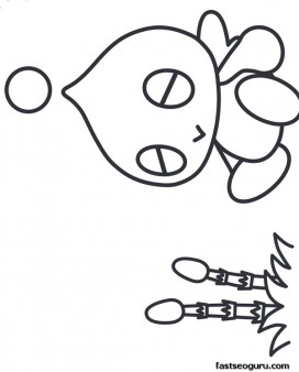 Printable Sonic the Hedgehog Chao Coloring pages