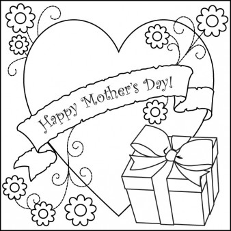Printable happy mothers day 2014 kids coloring pages