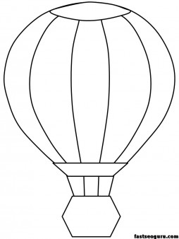 Air balloon coloring page print out