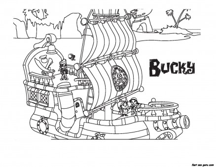 Jake and the Never Land Pirates Bucky coloring book pages
