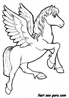 Printable Animals unicorn coloring pages for girls