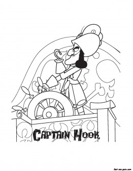 Printable Captain Hook Pirates coloring pages