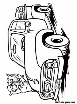 Print out Trucks Coloring Book pages