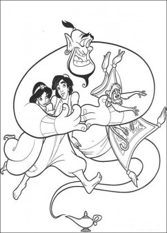 Aladdin coloring page
