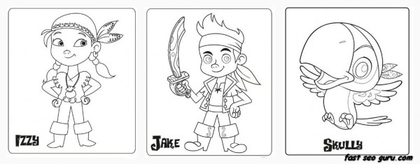 Printable Jake And The Neverland Pirates coloring pages