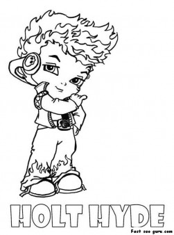 Holt Hyde Little Boy Monster High Coloring Page