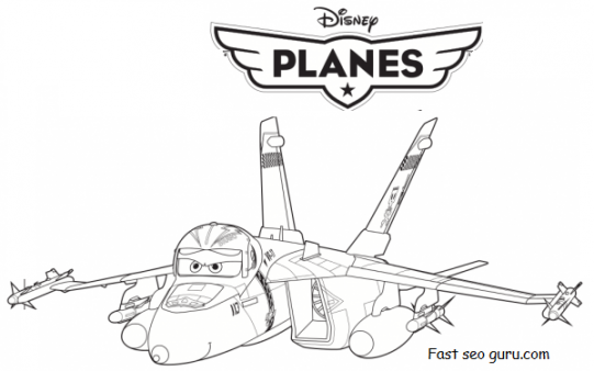Printable disney Planes Bravo and Echo Coloring Pages