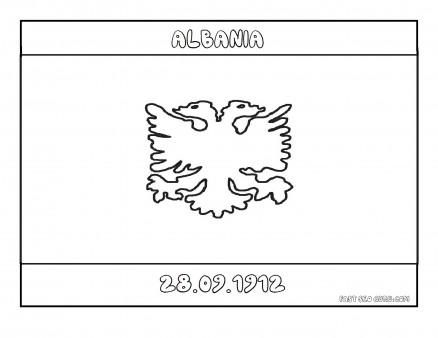 Printable Flag of albania coloring page