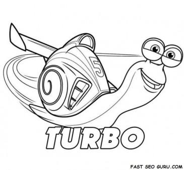 Printable Disney Turbo coloring page