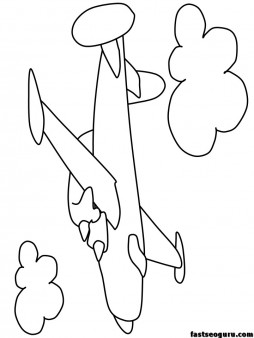 Printable Airplane Coloring Page sheets