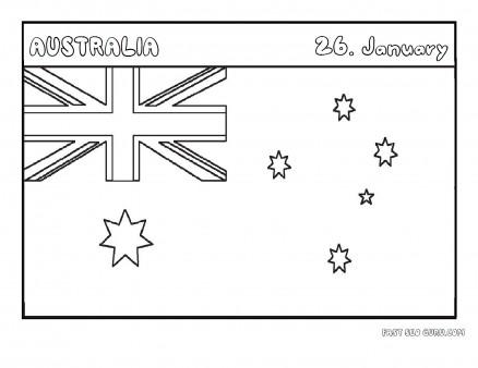 Printable flag of australia coloring page
