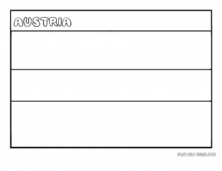 Printable Flag of austria coloring page