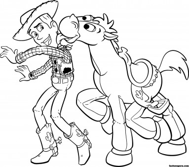 Printable Toy Story 3 Woody Bullseye Coloring pages