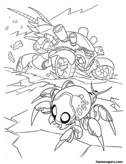 Printable wreck it ralph Cy bugs coloring pages