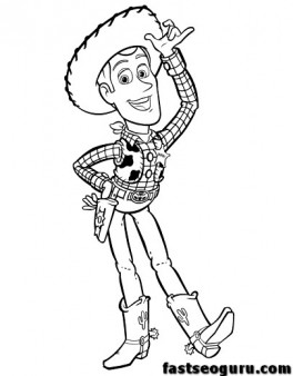 Printable Toy story 3 coloring pages Woody