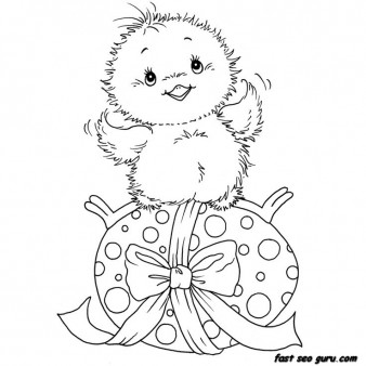 Printable chicken little easter eggs coloring pages