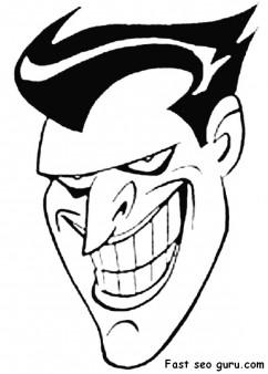print out batman joker coloring pages