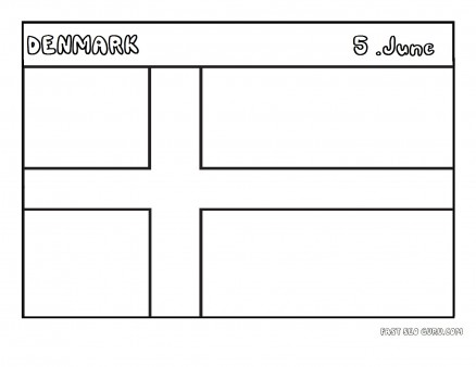 Printable flag of denmark coloring page