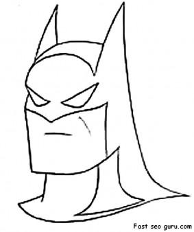 printable Superheroes batman coloring pages