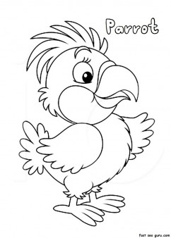 Print out Parrot Coloring Pages