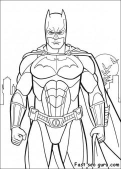 printable batman costume arkham city coloring in sheet