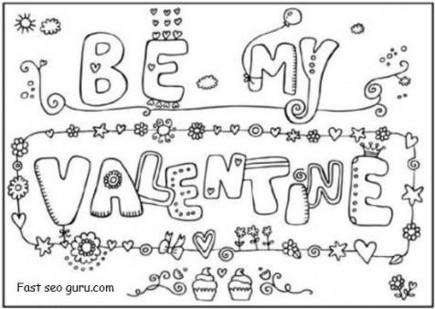 be my valentine cards printable