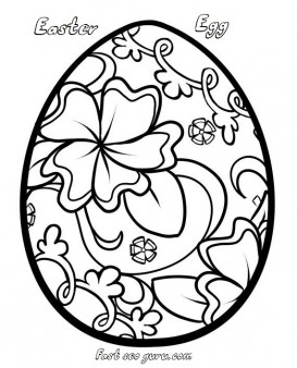Print out easter egg decorating coloring pages