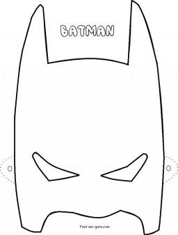 Printable Superheroes Batman mask coloring pages - Free ...