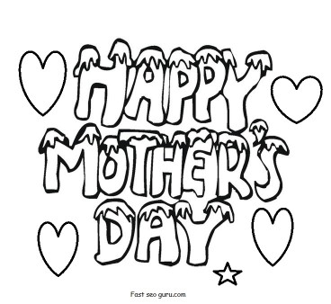 Print out Mothers Day Cards free Coloring Pages For Kids