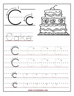 Printable letter C tracing worksheets for preschool