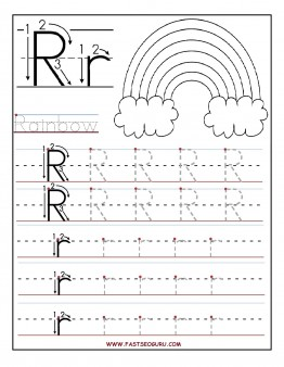 Printable letter R tracing worksheets for preschool Printable