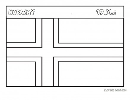 Printable Flag of Norway coloring pages