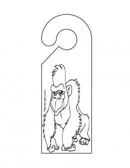 Printable door hanger gorilla cut out