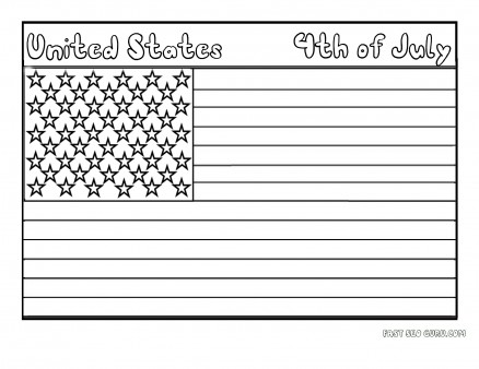 Printable Flag of United States coloring page for kids