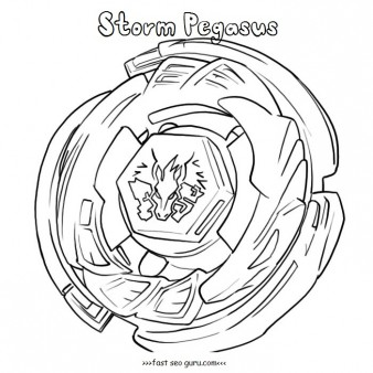 Printable beyblade storm pegasus coloring pages from metal fusion
