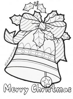Printable christmas jingle bells coloring pages for kids