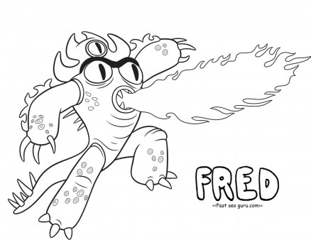 Printable big hero 6 fred coloring pages