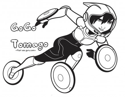 Printable big hero 6 GoGo Tomago coloring pages