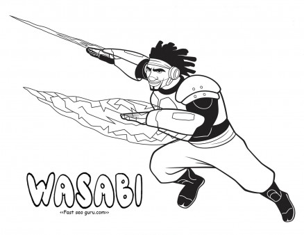 Printable big hero 6 coloring pages wasabi