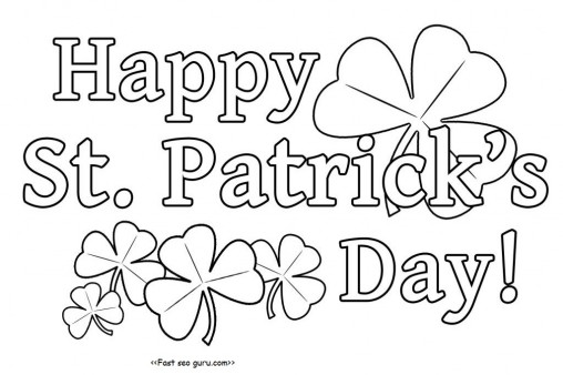 Printanble Happy St. Patricks Day Coloring Pages