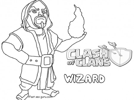 Printable clash of clans wizard tower coloring pages for kids