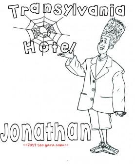 Printable Hotel Transylvania 2 Jonathan coloring pages