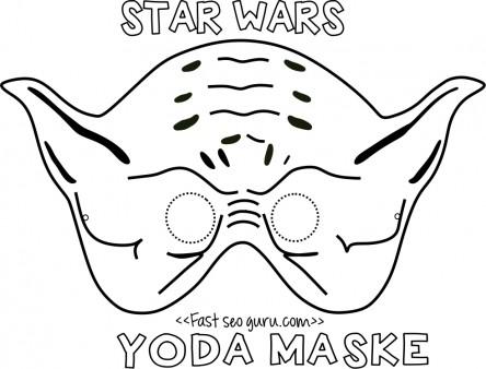 Printable yoda mask template for kids