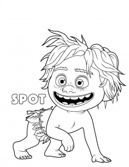 Printable the good dinosaur Spot coloring pages