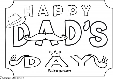 Printable happy dads day coloring pages for kids