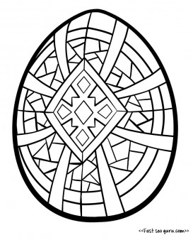 Printable easter egg coloring in coloring for adults