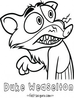 Printable Duke Weaselton zootopia coloring pages